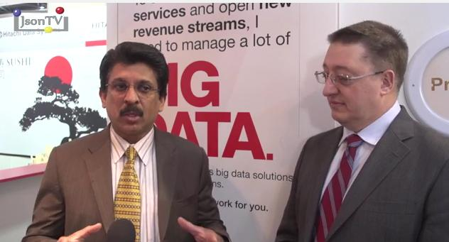 Mobile World Congress 2013, Ravi Chalaka, Larry Yandrofski, Hitachi Data Systems (English version)