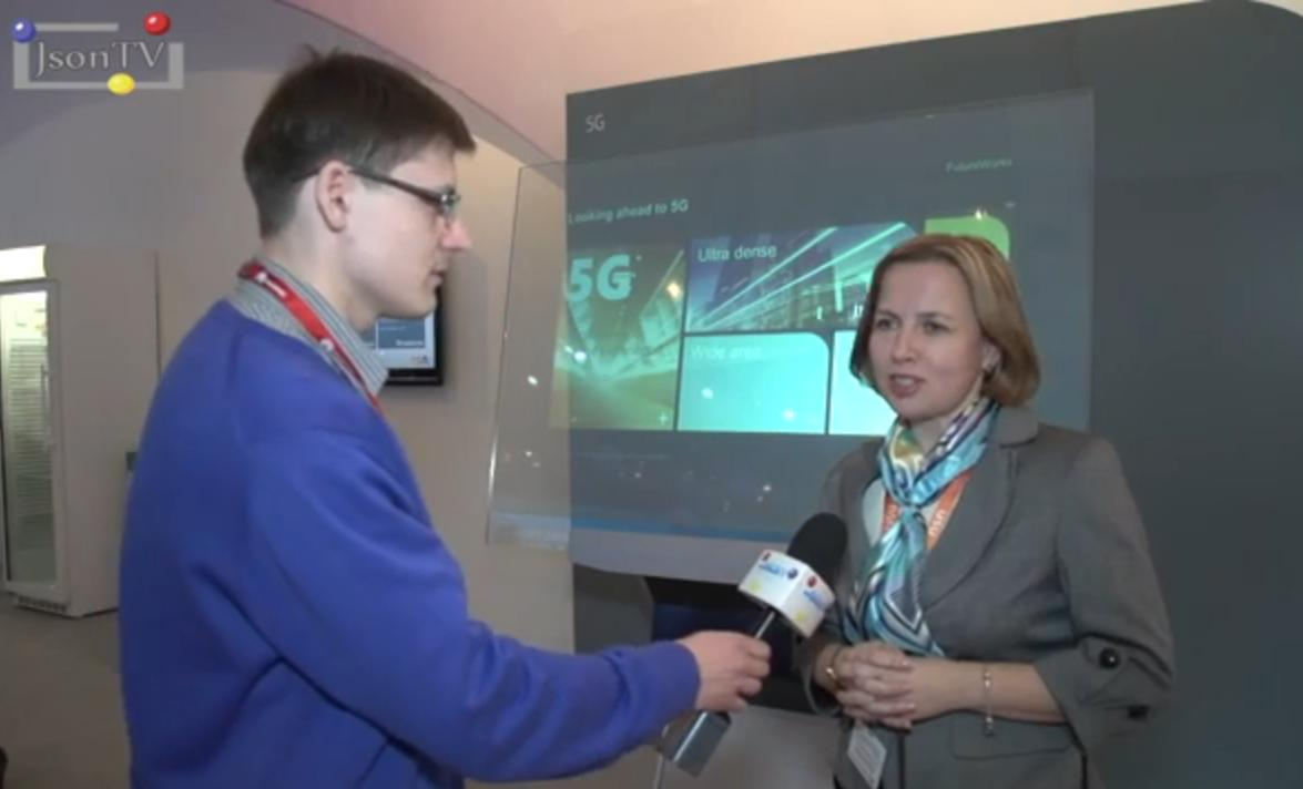 MWC 2014, Lidia Varukina, Nokia Solutions & Networks (NSN Russia). Part 1