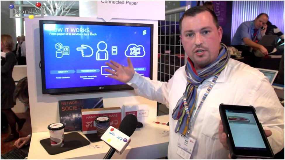 MWC 2014, Mark Merdy, Ericsson booth. Как работает Connected Paper