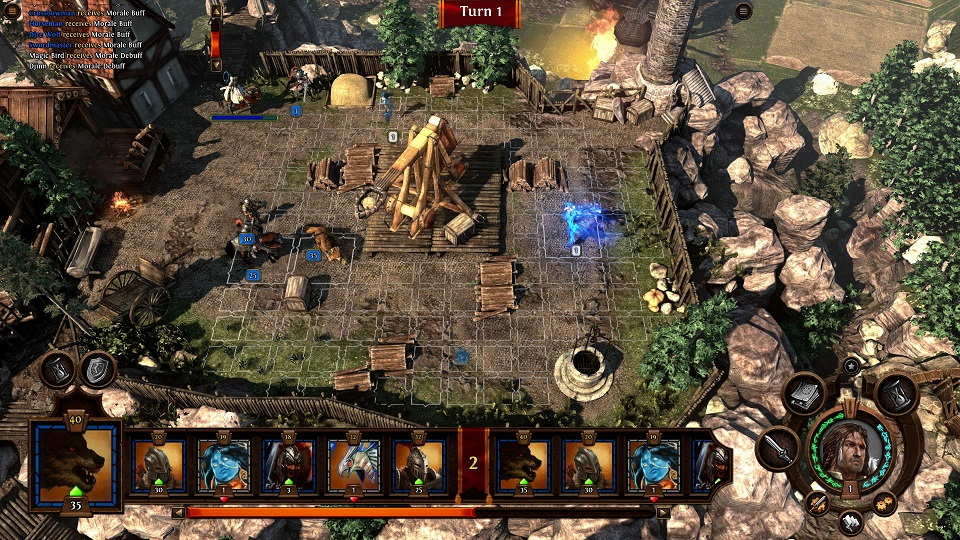 Might and Magic Heroes 7 бой