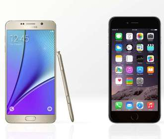 Samsung Galaxy Note 5 против iPhone 6 Plus