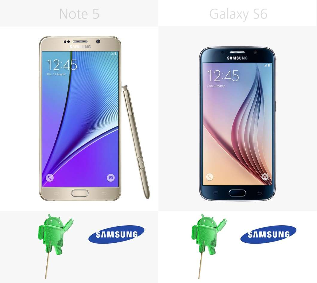 Samsung Galaxy Note 5 против Galaxy S6 2
