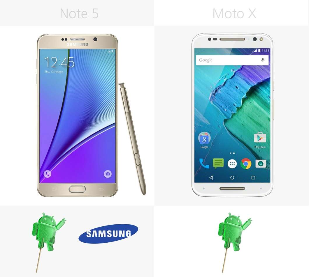 Samsung Galaxy Note 5 против Moto X Style 4