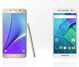 Samsung Galaxy Note 5 против Moto X Style
