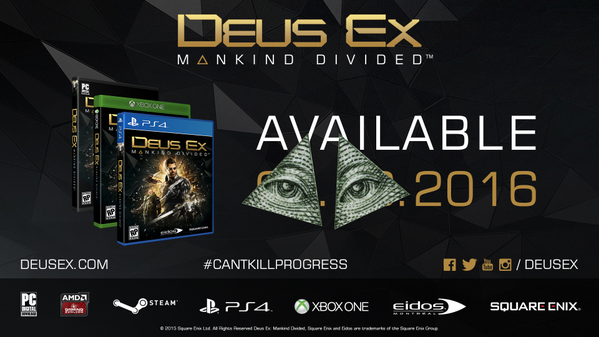 Deus Ex Mankind Divided дата релиза 1