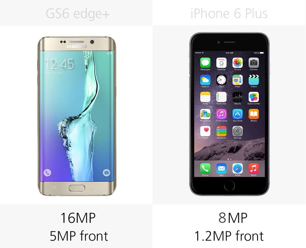Samsung Galaxy S6 edge+ против iPhone 6 Plus 3