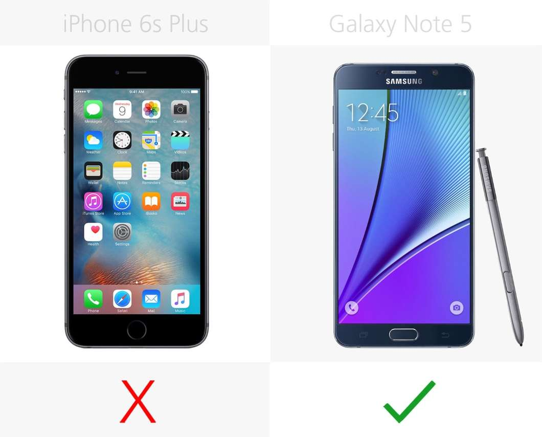 IPhone 6s Plus против Samsung Galaxy Note 5 3