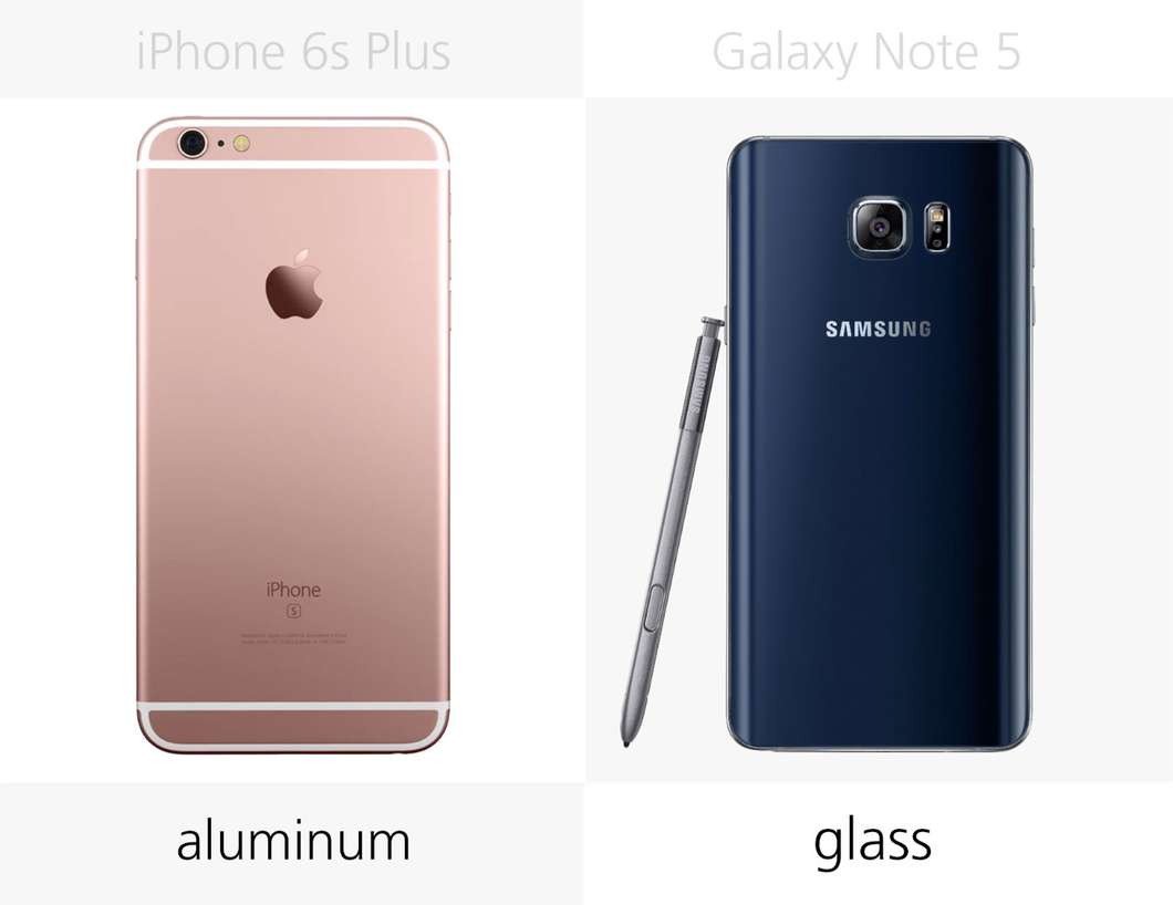 IPhone 6s Plus против Samsung Galaxy Note 5 4