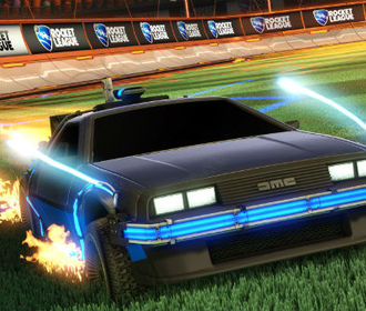 ДеЛориан из Back to the Future в Rocket League