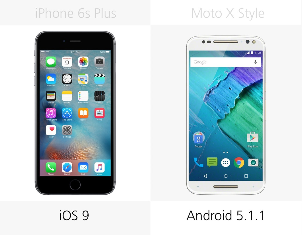 iPhone 6s Plus против Moto X Style 5