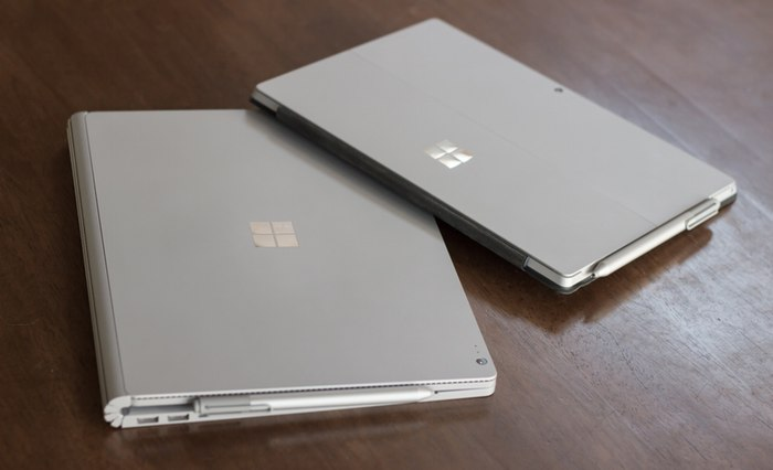 Microsoft Surface Book против Surface Pro 4 3
