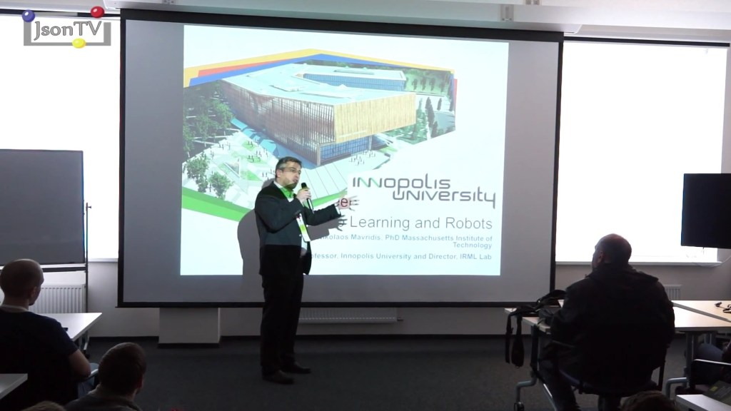 Skolkovo Robotics. Nikolaos Mavridis, Innopolis University: deep learning and robots