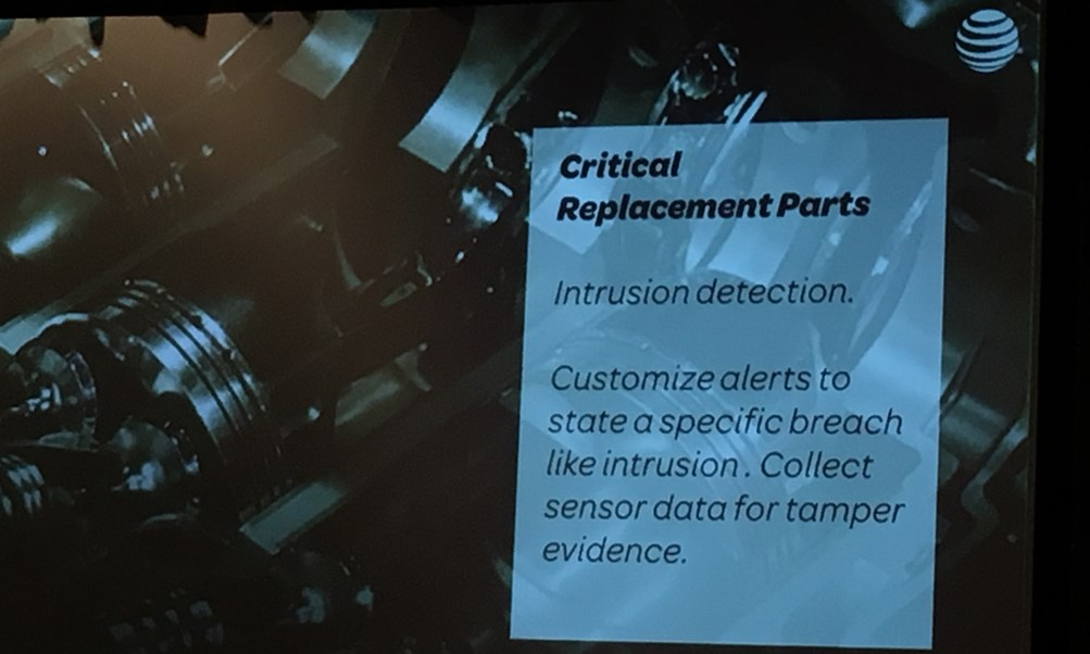 IoT World 2016 Critical replacement parts