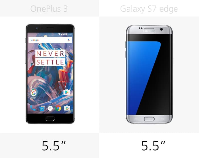 OnePlus 3 против Samsung Galaxy S7 edge
