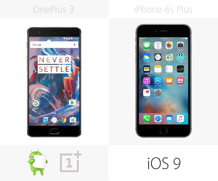 OnePlus 3 против iPhone 6s Plus обзор 6