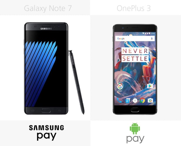 Samsung Galaxy Note 7 против OnePlus 3 4