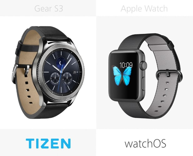 Samsung Gear против Apple Watch: Tizen (c Android) и iOS