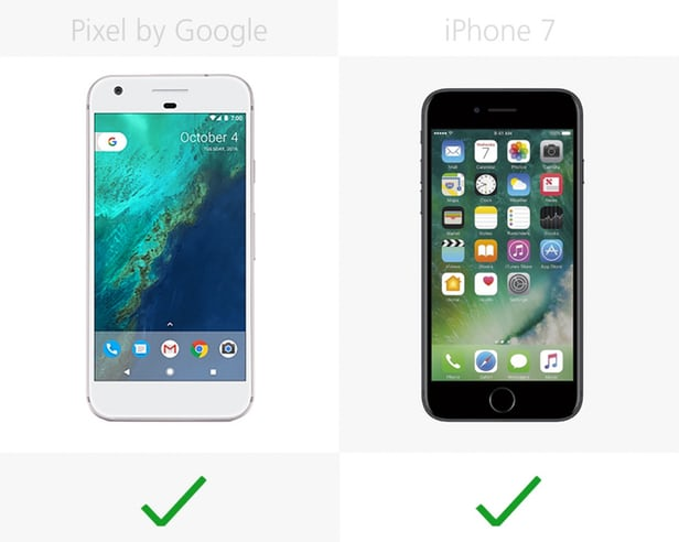Google Pixel против iPhone 7: Android или iOS 8