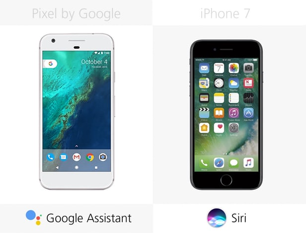 Google Pixel против iPhone 7: Android или iOS 9