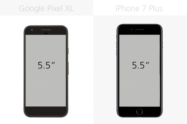 Google Pixel XL против iPhone 7 Plus- Android или iOS?