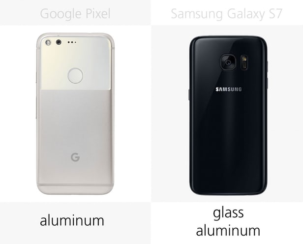 Google Pixel vs Samsung Galaxy S7: advanced  Android