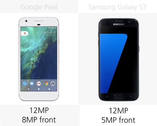 Google Pixel vs Samsung Galaxy S7: advanced  Android smartphone 6