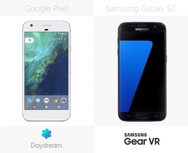 Google Pixel vs Samsung Galaxy S7: advanced  Android smartphones 7