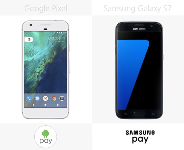 Google Pixel vs Samsung Galaxy S7: advanced  Android smartphones 8