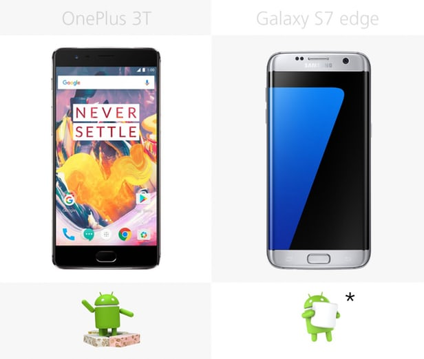 OnePlus 3T vs Samsung Galaxy S7 edge: Chinese or Korean Android 7