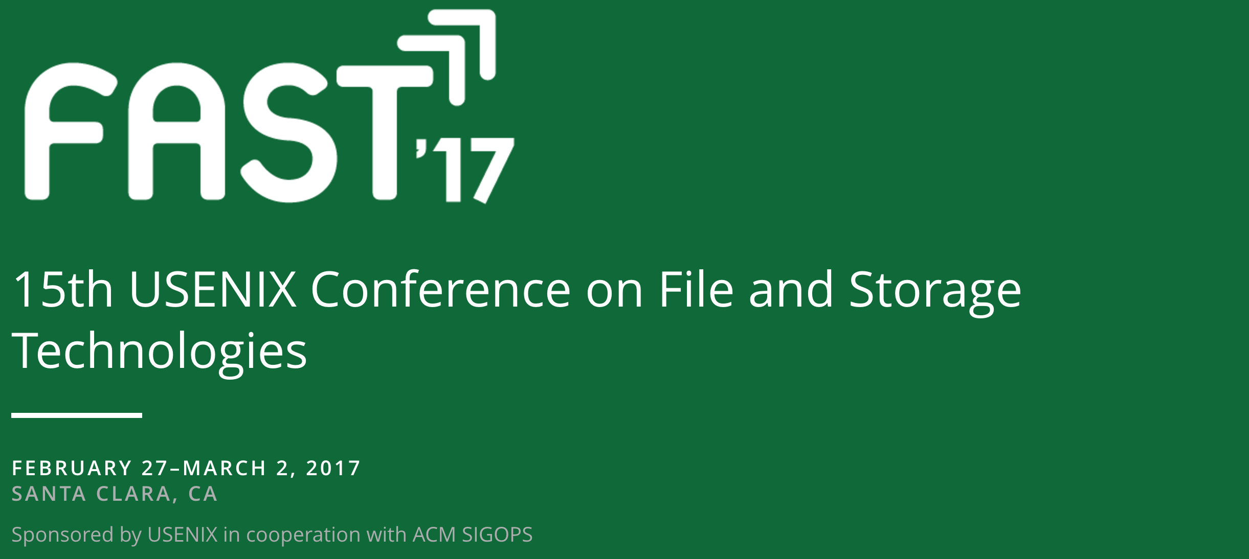 Usenix Conference on File and Storage Technologies - Fast 2017
