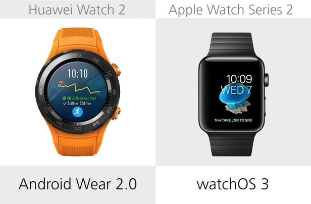 Huawei Watch 2 против Apple Watch Series 2: Android Wear или Watch OS 10
