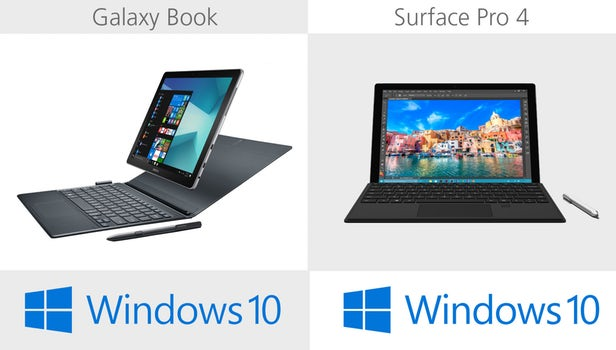 Samsung Galaxy Book против Microsoft Surface Pro 4: Windows-баталии устройств 2 в 1