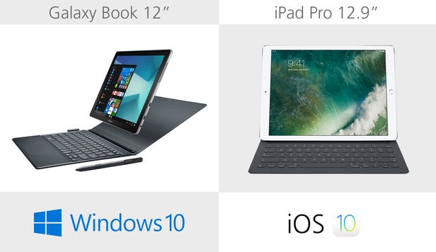 Samsung Galaxy Book против Apple iPad Pro: Windows против iOS 10