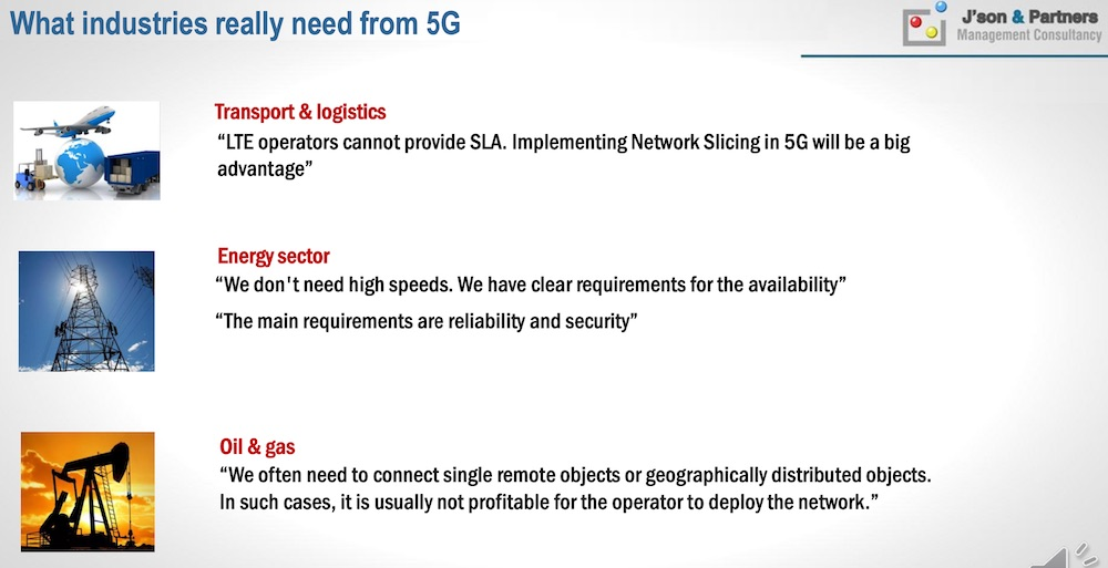 What industries really need from 5G